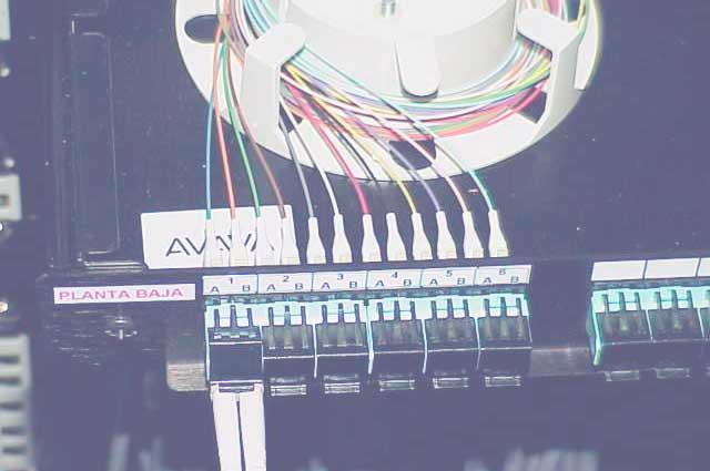 fibra óptica conexiones